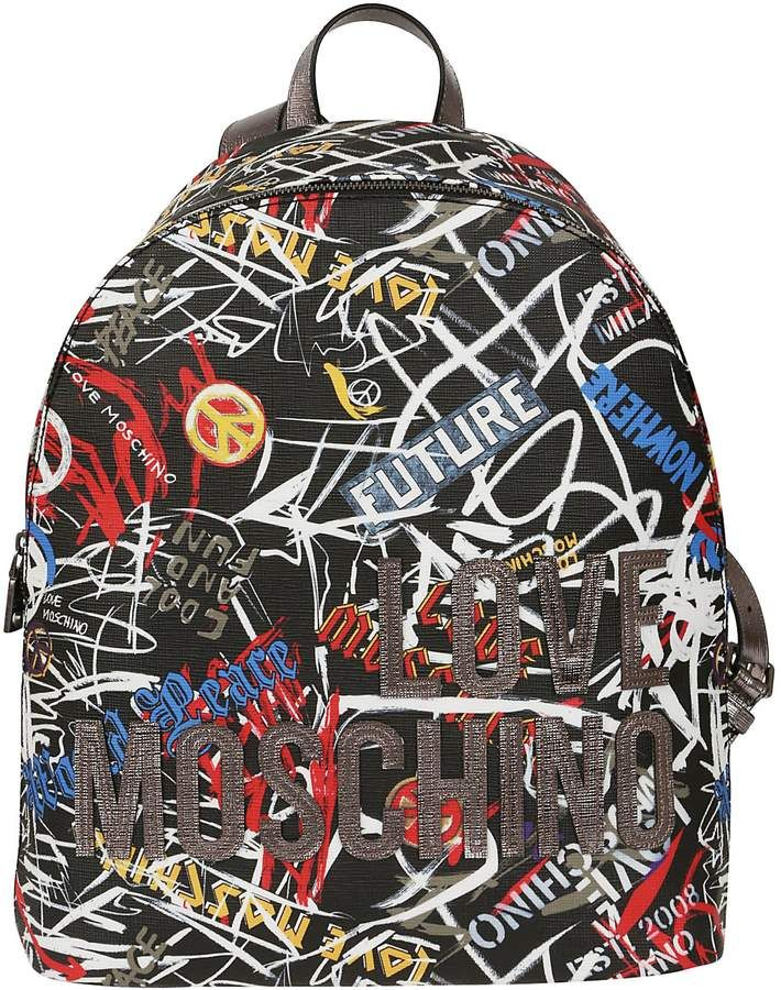 e13138c4dcfba Love Moschino Patterned Backpack #backpacking #backpacks #bag #bags # handbags #shoulderbag #bolsa #style #fashion #affiliate #shopstyle #mystyle  ...