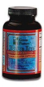 Blue ice fermented skate liver oil capsules
