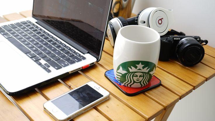 Morning Macbook Starbucks iPhone Beats