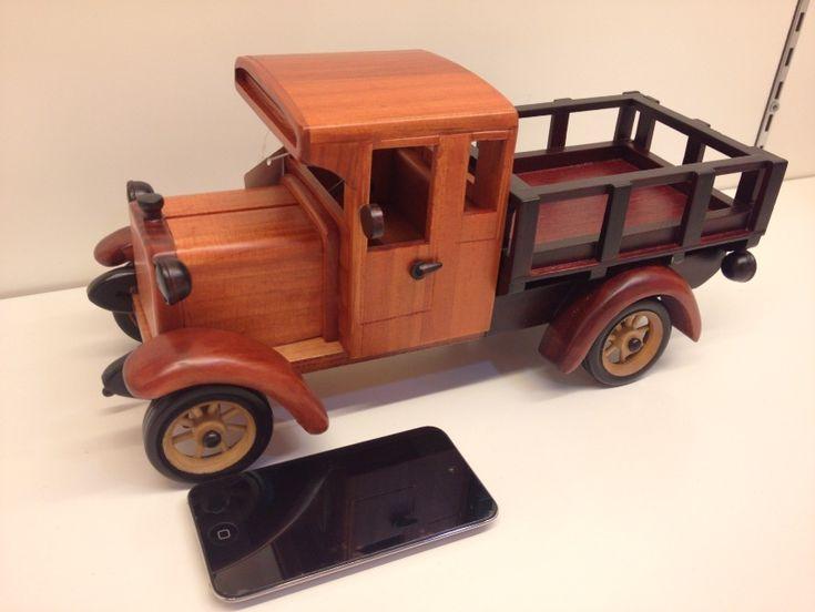 Ручной работы из твердой древесины авто грузовик ремесла подарки(China (Mainland))
