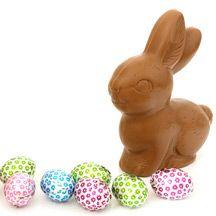 Chocolade paashaas en eieren