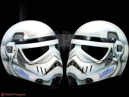Star Wars Stormtrooper Motorcycle Helmet