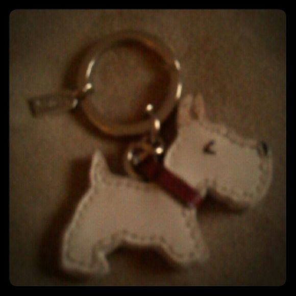 Coach scottie dog keychain This is a coach Scotty dog key chain I'm pricing this to sell quick . Perfect condition with tiny  siler coach tag.. I will ship next day. I'm new to posh  now have access to a printer for the shipping labels. so quick shipment  Check out all this listing I'm posting next few days to build  my posh closet. Sorry if pictures arent the brightest. I'm using my phone camera will continue to add clearier pictures Coach Accessories Key & Card Holders