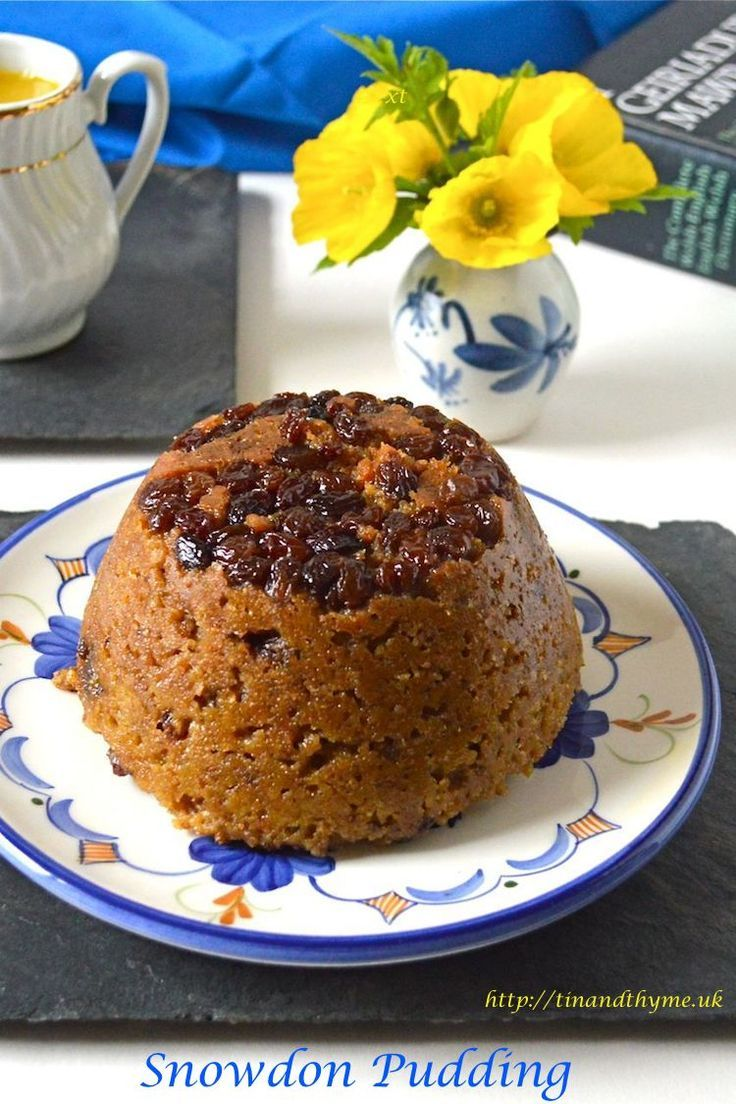 Fragrant steamed suet pudding from Wales. Flavoured with lemon, it's vegetarian friendly of course.
