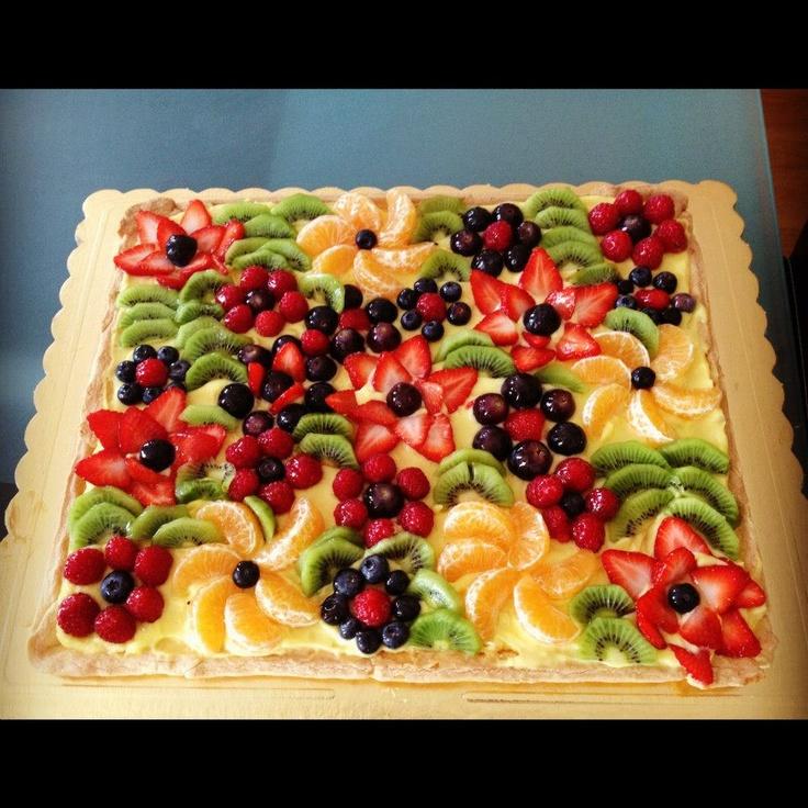 una semplice crostata di frutta, ma bellissima!