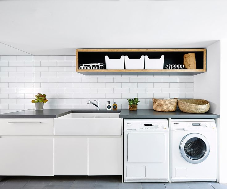 This '80s laundry has been given a complete overhaul with careful planning and the use of functional yet beautiful materials.