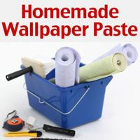 An easy Homemade Wallpaper Paste recipe with step by step instructions and pictures to make it easy for you!