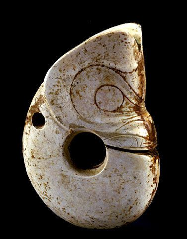 The Hongshan culture 红山文化 was a Neolithic culture in northeastern China. Hongshan sites have been found in an area stretching from Inner Mongolia to Liaoning, and dated from about 4700 to 2900 BC. Hongshan burial artifacts include some of the earliest known examples of jade working. The Hongshan culture is known for its jade pig dragons and embryo dragons. Clay figurines, including figurines of pregnant women.