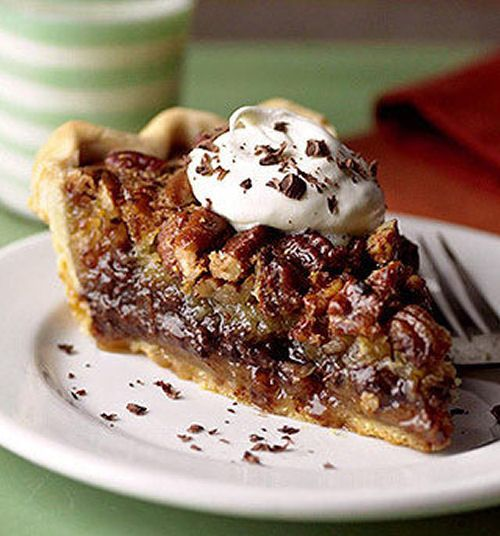 Millionaires Chocolate Pecan Pie. Wow, that's a load-full of nuts and chocolate!!! I should get my mom to make this, but the sound of it makes me sick!!