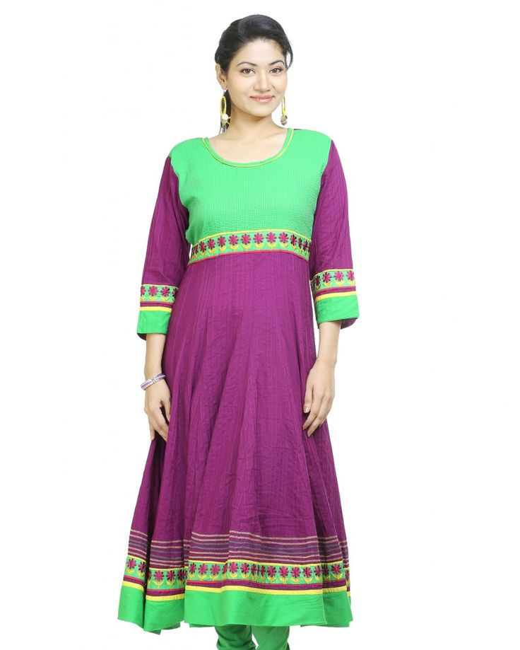 For an unexpected update to any outfit wearing this kurta by PURPLE YOU. Designed with absolute perfection, this 100% cotton kurta is soft against the skin and wi
