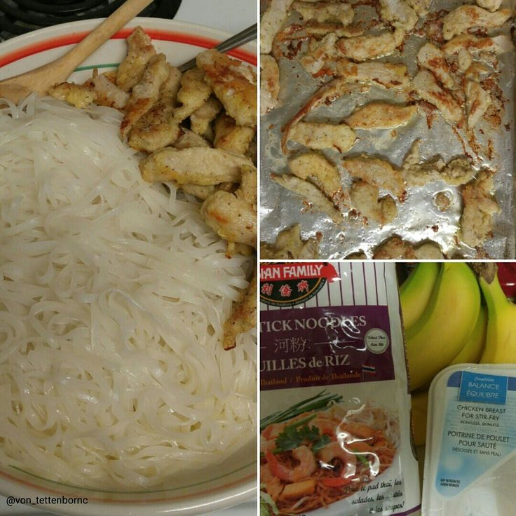 As per Challenge: Asian inspired (I was out of peppers :-( ) breaded chicken and rice noodles. Which pairs nicely with corn and Oriental Salad.  This is actually the second meal I cooked from scratch today.  #cutco, #cutco_at_home, #cutco_enthusiasts, #healthy_living
