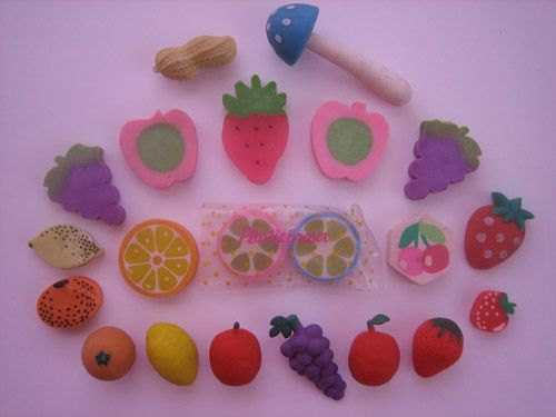 I had an eraser collection when i was young... I come home from school one day to find my little brother and his little girlfriend had thrown them ALL into the outside fishpond.. devo