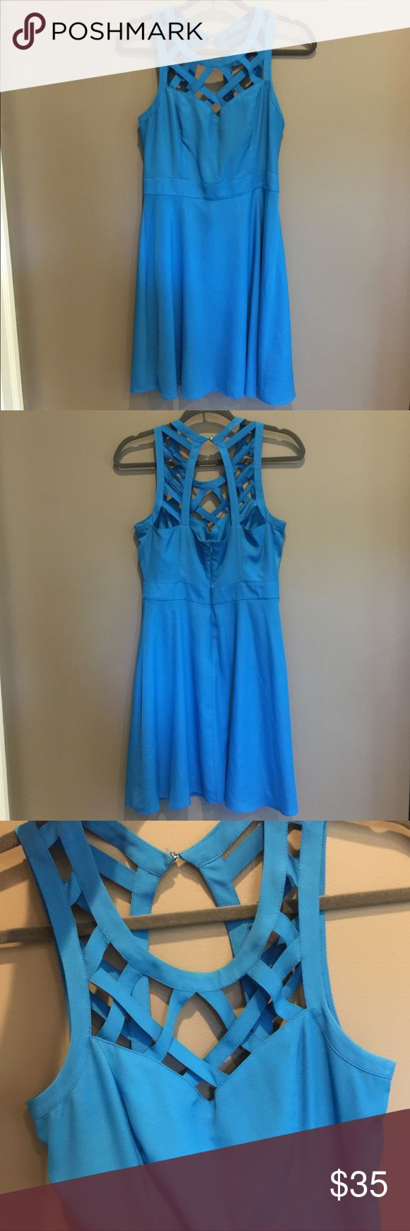 Guess Blue Strappy Top Dress Sorry and cute! Guess Dresses Wedding