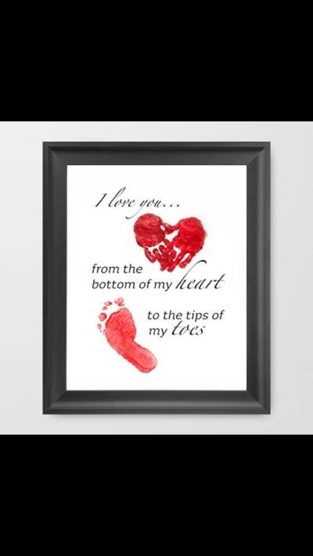 """I love you... from the bottom of my heart to the tips of my toes"""