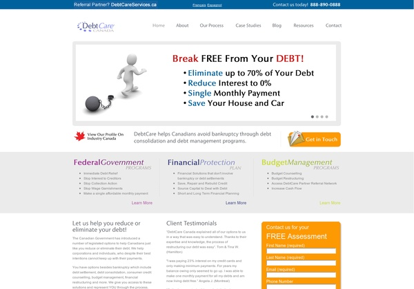 DebtCare Canada,  25 Sheppard Avenue DebtWest  Toronto, ON M2N 6S6 Canada,  (416) 907-2582