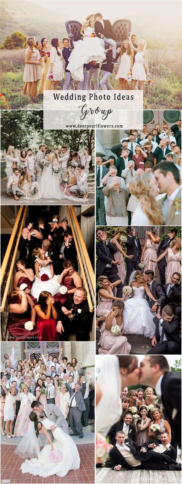 Wedding group photo ideas and poses  #weddingideas #weddingphotos #wedding / http://www.deerpearlflowers.com/wedding-photo-ideas-and-poses/