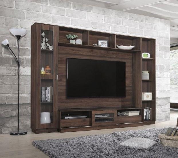 طاولة تلفاز جدارية العرض الكلي 256 سم الارتفاع 188 سم العمق 41 سم صناعه ماليزية السعر 1899 ري Living Room Decor Modern Luxury Living Room Bedroom Bed Design