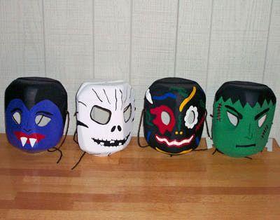plastic jug mask craft halloween milk jugshalloween craftsspooky