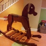 Rocking horse that can be ridden by adults!