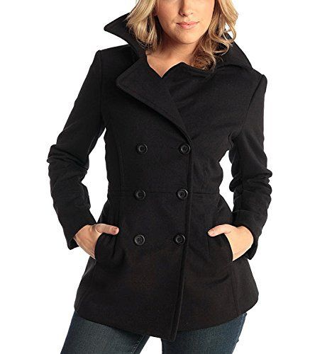 """Emma DB Blazer By Alpine Swiss MSRP: $165.00 A Superb Fit and classic """"never out of style"""" design that you can wear regularly for years to come! Product Features: Light weight for slimming Fit Fulll Satin lining Double Breasted Superb fit for that hourglass shape Fashionable Red Pipe...  More details at https://jackets-lovers.bestselleroutlets.com/ladies-coats-jackets-vests/wool-pea-coats/product-review-for-alpine-swiss-emma-womens-peacoat-double-breasted-overcoat"""