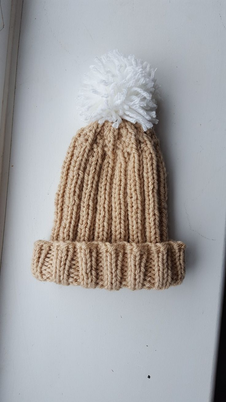 Lazy Girl slouchy bobble hat in camel, must have for this coming Autumn Winter, adult one size, available at www.kokobyriah.etsy.com