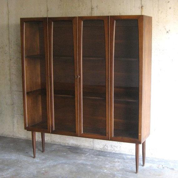 Free Shipping circa 1960s BROYHILL WALNUT CABINET by SelectModern, $920.00