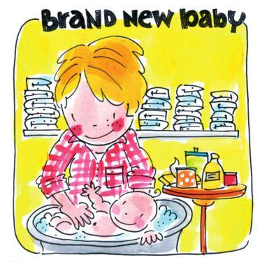 Brand New Baby (vader doet baby in bad) - Blond Amsterdam