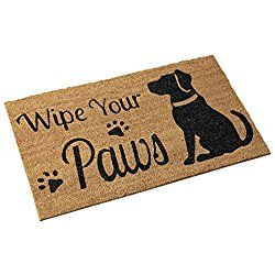 Pet Wipe Your Paws Coco Door Mat, Dog