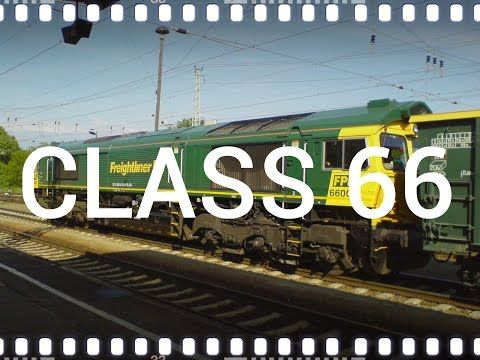 locomotive EMD Class66 Freightliner PL begins to run with 45 wagons with coal - YouTube