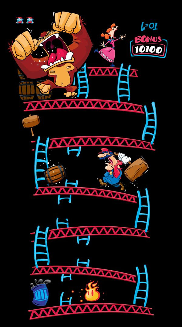 Donkey kong level 1 created by matthew luxich