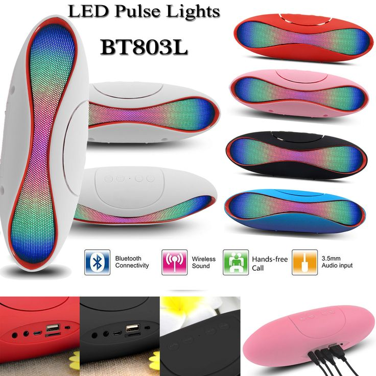 Led Pulse Lights Rugby Portable Bluetooth Wireless Speaker Mic Super Bass TF USB in Sound & Vision, iPod & MP3 Player Accessories, Audio Docks & Mini Speakers | eBay