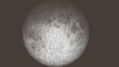 Úplněk Měsíce s čepicí z polostínu Země. Úkaz, k němuž dojde z pátku na sobotu v 1:45 hodin.