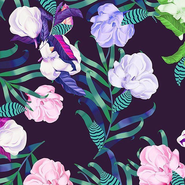 Tropical Flowers By Sabina Gasanova Inrepeat Psd Patternbank