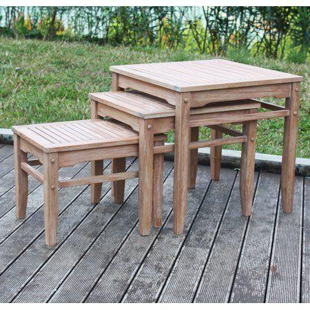 Patio Garden With Images Nesting Tables Best Outdoor Furniture Teak Outdoor