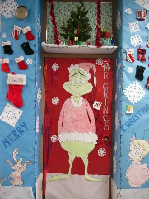 christmas door decorations for school pictures - Google Search