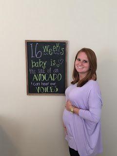 16 weeks bump: Week-By-Week Pregnancy Chalkboard Designs
