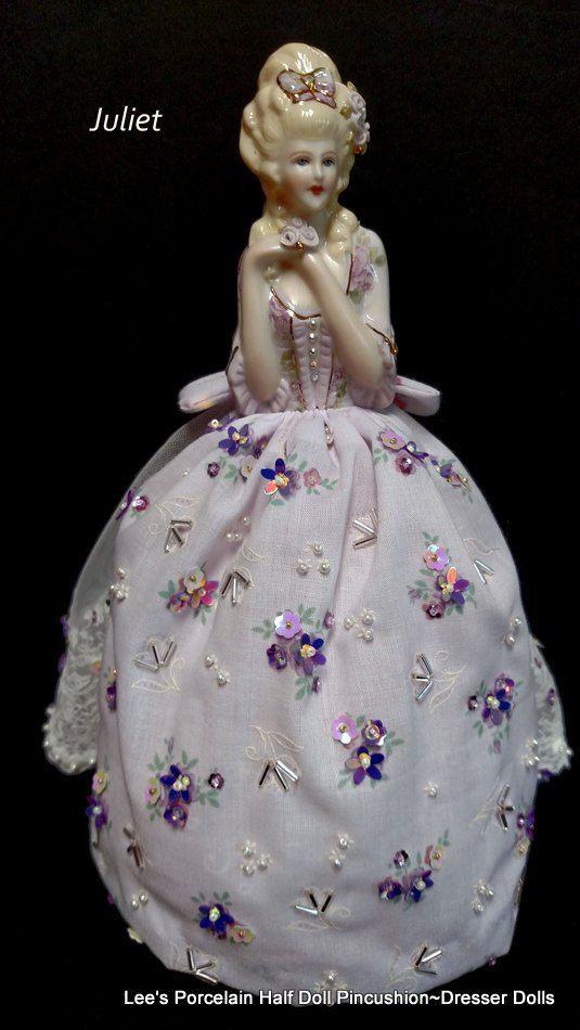 Porcelain Half Doll Boudoir Doll by LeesVintageTreasures on Etsy