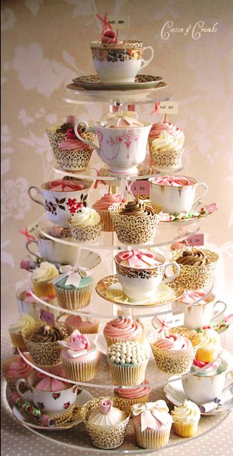 Teacup cake from Cotton & Crumbs [Elegant & Whimsical!] @Sandra Vanderbeck Heyrich Kalnasy