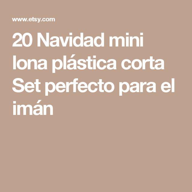 20 Navidad mini lona plástica corta Set perfecto para el imán