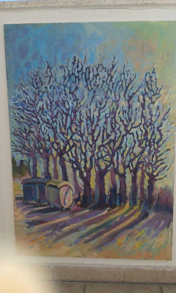 Trees ...stromy art paint