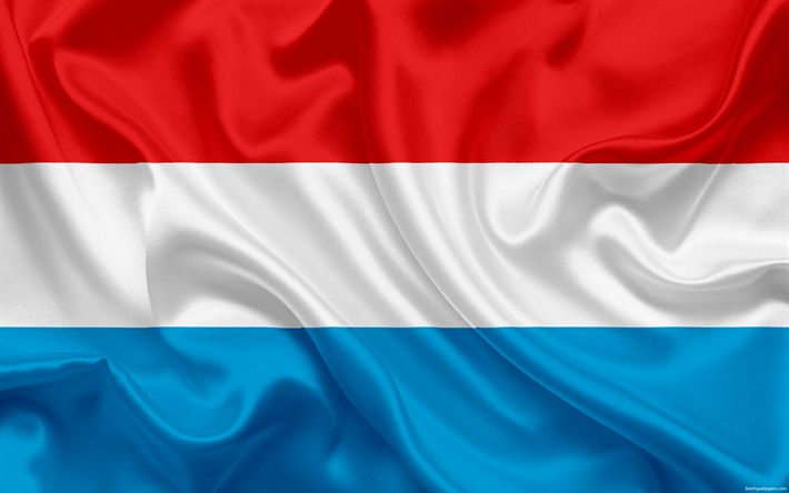 Download wallpapers flag of Luxembourg, Europe, Luxembourg, national symbols, Luxembourg flag
