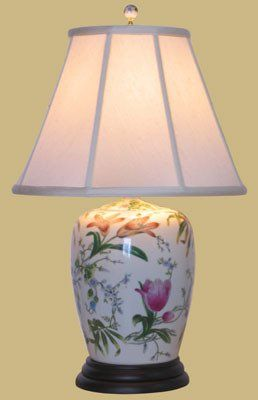 31 best chinese lamps images on pinterest chinese lamps table porcelain ginger jar lamp with fabric lamp shade greentooth Images