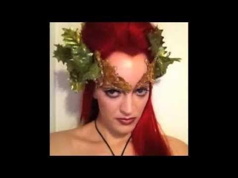 ▶ Poison Ivy (Uma Thurman- Batman) Costume Make-Up (by Whitton)) - YouTube