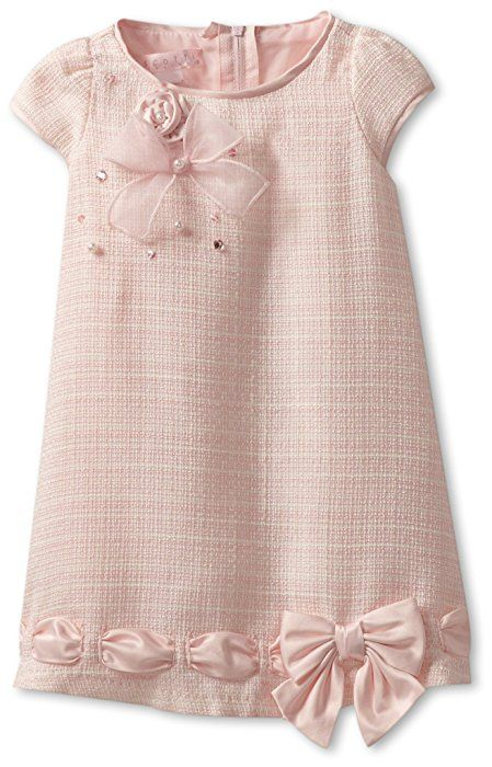 Biscotti Baby Girls' Ode To Chanel Dress, Pink, 24 Months