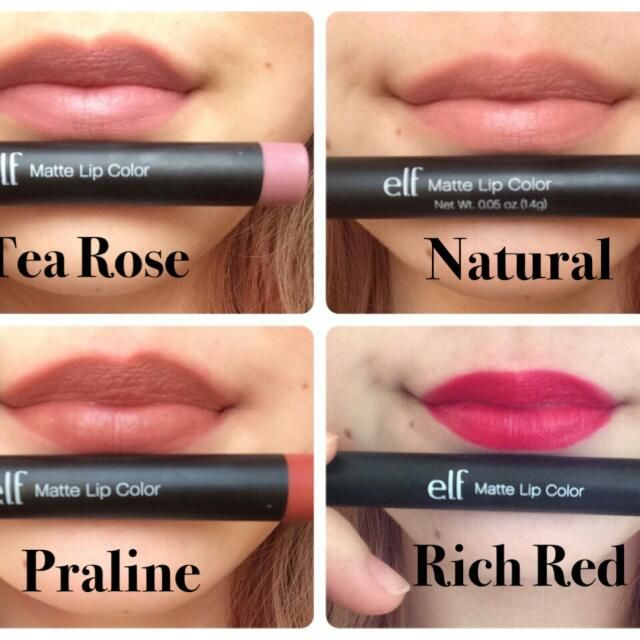E.L.F. Matte Lip Color - Natural & Rich Red di Carousell