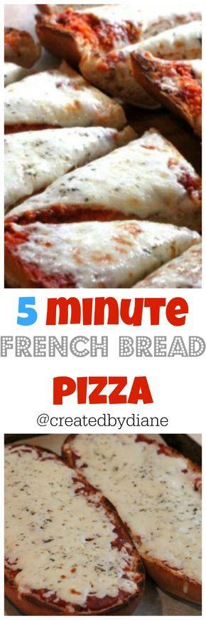 5 minute french bread pizza @createdbydiane