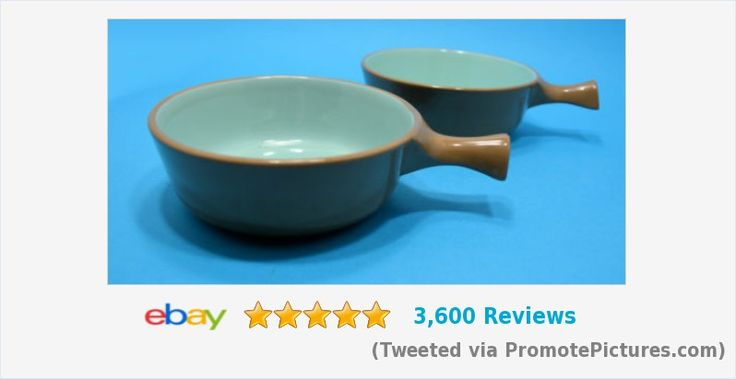 Taylor Smith Taylor TST CHATEAU BUFFET 1 handle CHILI SOUP Bowls Brown Blue PAIR | eBay #taylor #taylorsmith