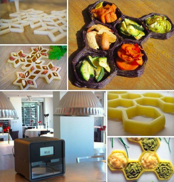 samples of 3d food printing