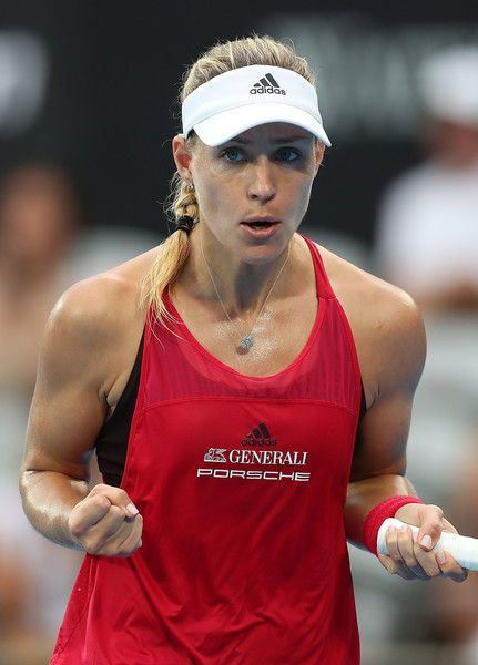 Angelique Kerber of Germany celebrates winning a point in her quarter final match against Dominika Cibulkova of Slovakia during day five of the 2018 Sydney International at Sydney Olympic Park Tennis Centre on January 11, 2018 in Sydney, Australia. - Angelique Kerber Photos - 28 of 5314