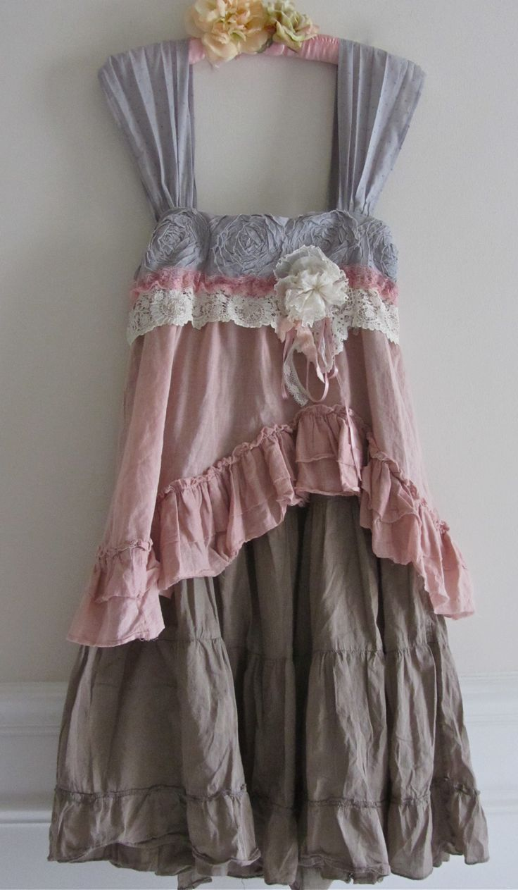 shabby chic clothes lace shabby chic dress dresses pinterest upcycling kleidung. Black Bedroom Furniture Sets. Home Design Ideas
